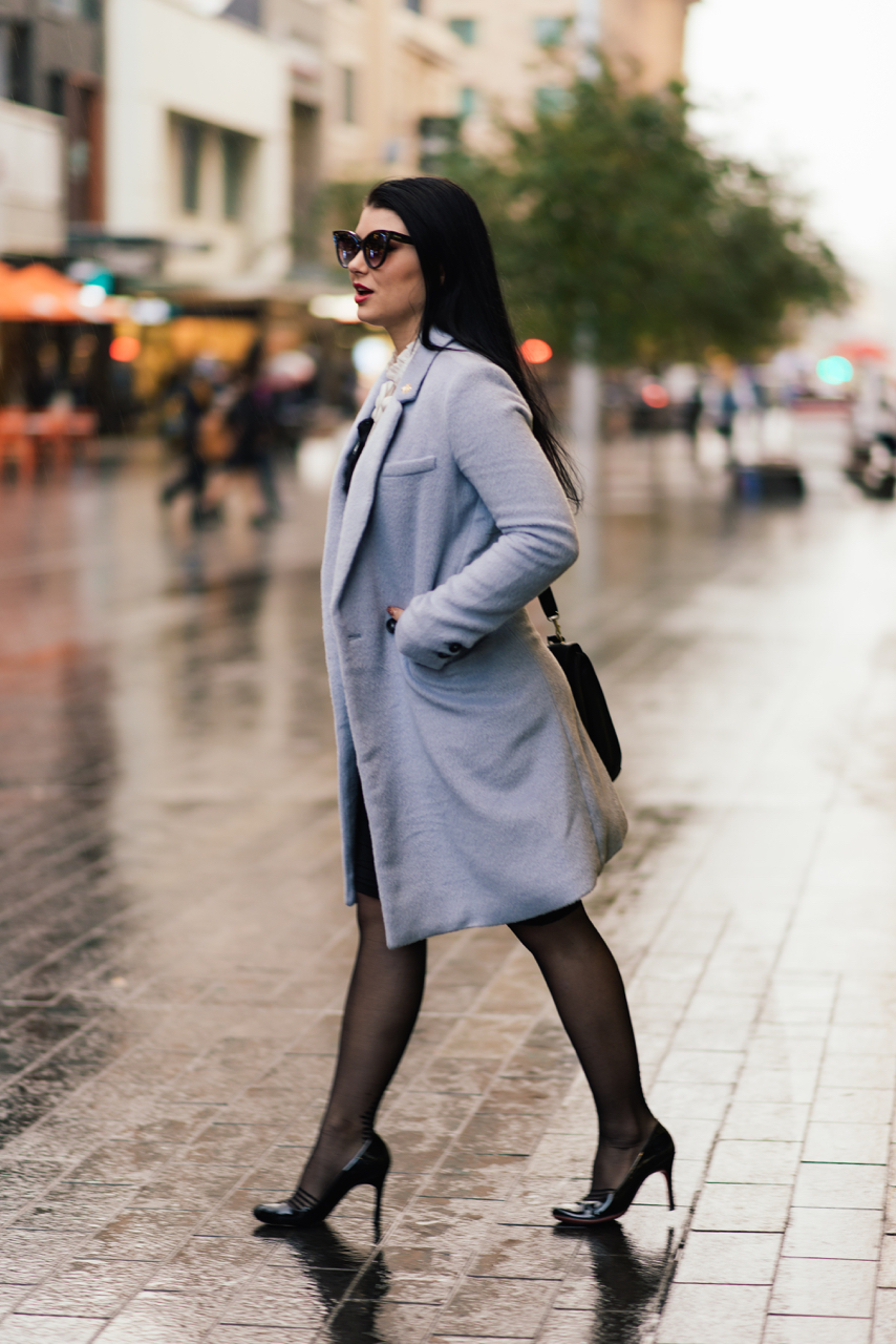 """SA: Gabrielle Church, State Manager, in  Rundle Mall. """"Another day, another slay."""""""