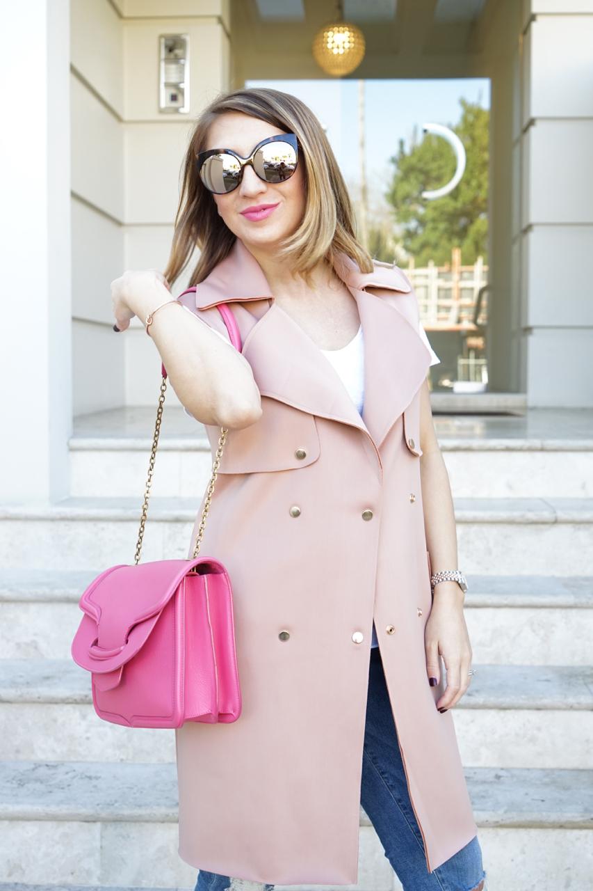 "NSW: Amalia Karaeva, Fashion Blogger, Double Bay.  ""I describe my style as fab and chic."" Photo: Anastasia Fua."