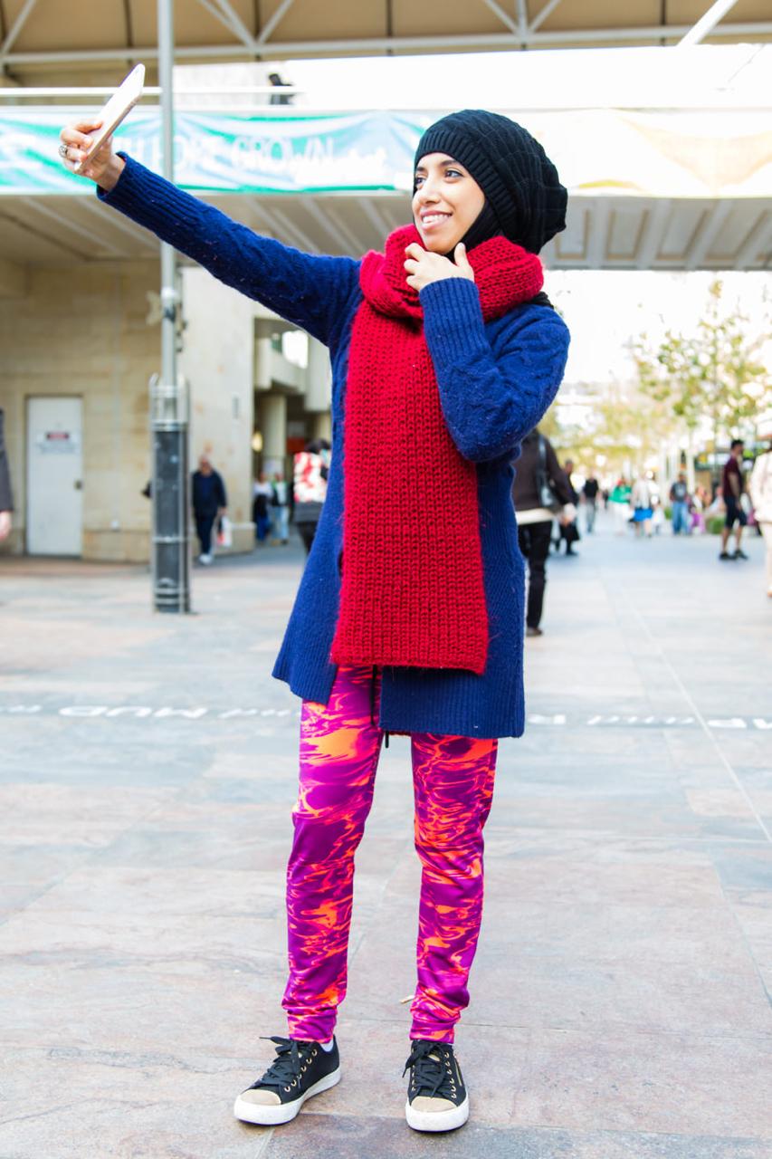 """WA: Basma Al Nassri, Electical Engineering, Hay St, Perth. Photo: <a href=""""http://www.rahstudios.com.au/street-style.html/"""" target=""""_blank"""">Alain Quah</a>"""