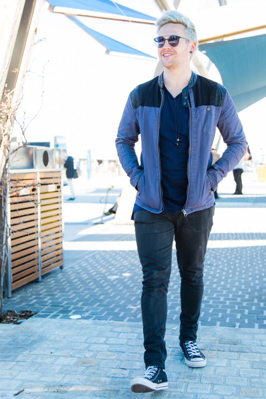"WA: Joe Spina, Student, Elizabeth Quay. ""I like to be a little noticeable to stand out."" Photo: <a href=""http://www.rahstudios.com.au/street-style.html/"" target=""_blank"">Alain Quah</a>"