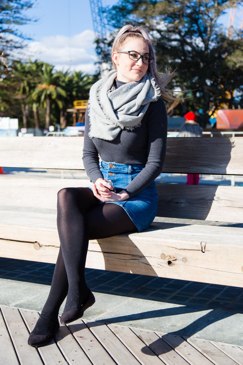 """WA: Katie Boast, Sales, Elizabeth Quay, Perth. Photo: <a href=""""http://www.rahstudios.com.au/street-style.html/"""" target=""""_blank"""">Alain Quah</a>"""