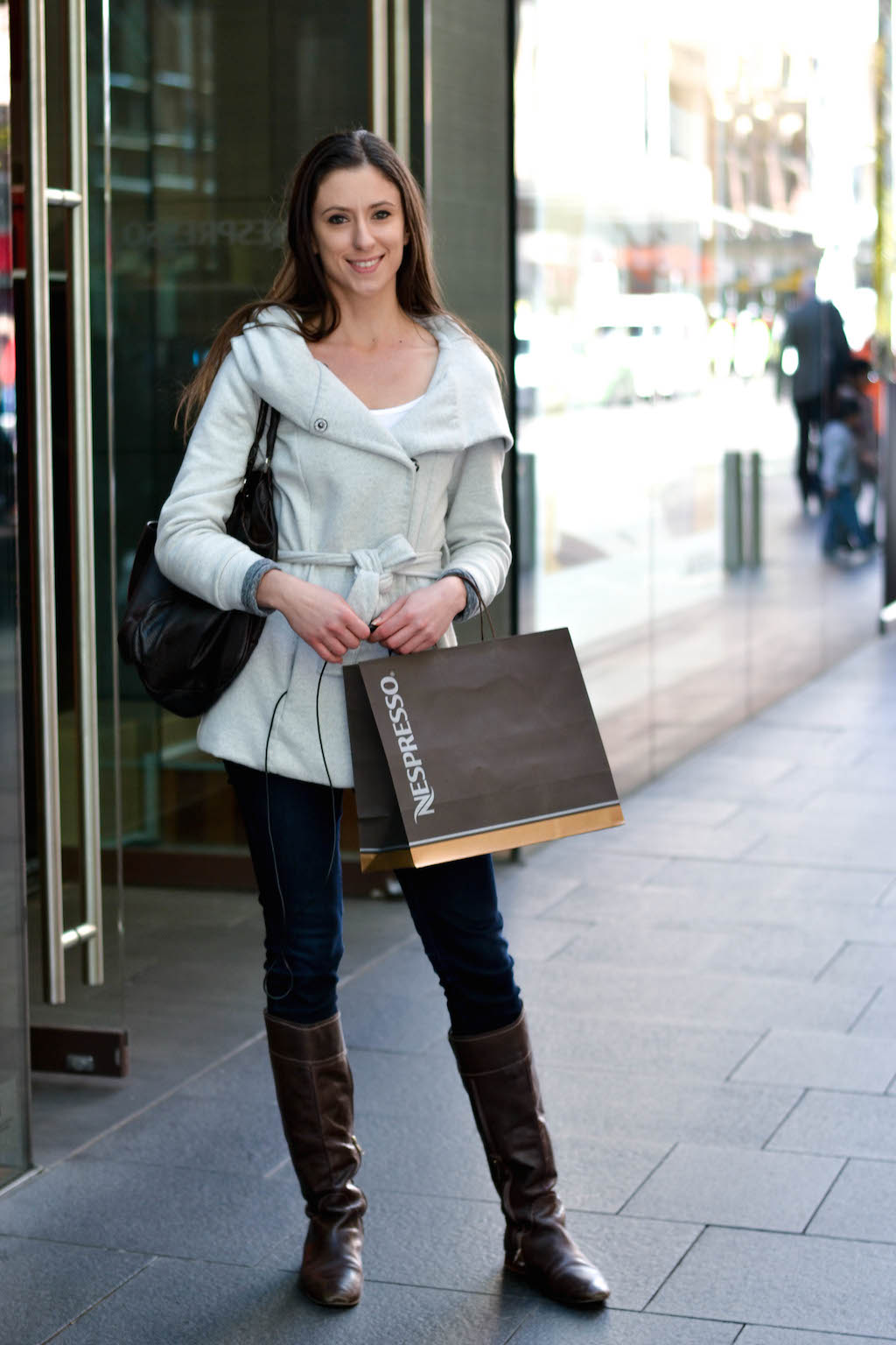 "NSW: Yolanda Samuel, student, Pitt St, Sydney. ""My style's classic, minimalist, versatile."" Photo: Alice Scriberras"