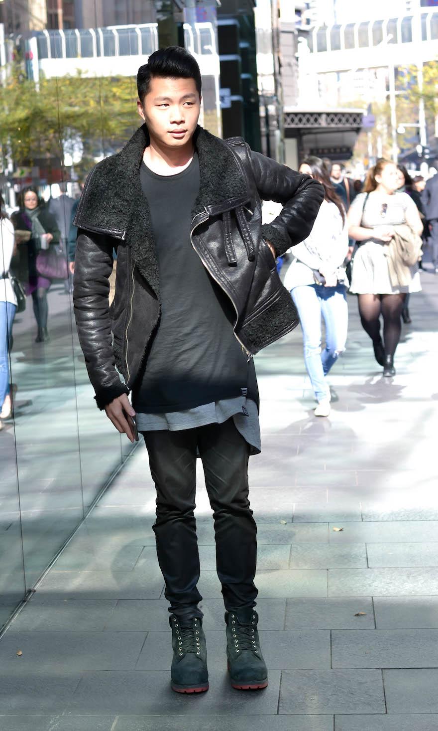 "NSW: Jun, accountant, Town Hall. ""Love wearing black."" Photo: Alice Scriberras."