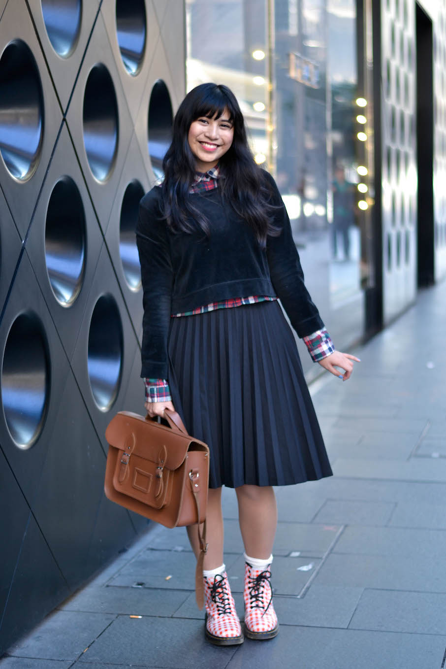 """NSW:  Renee Marie Lequin, student, Castlereagh St, Sydney. """"My style depends on how many hours of sleep I get."""""""