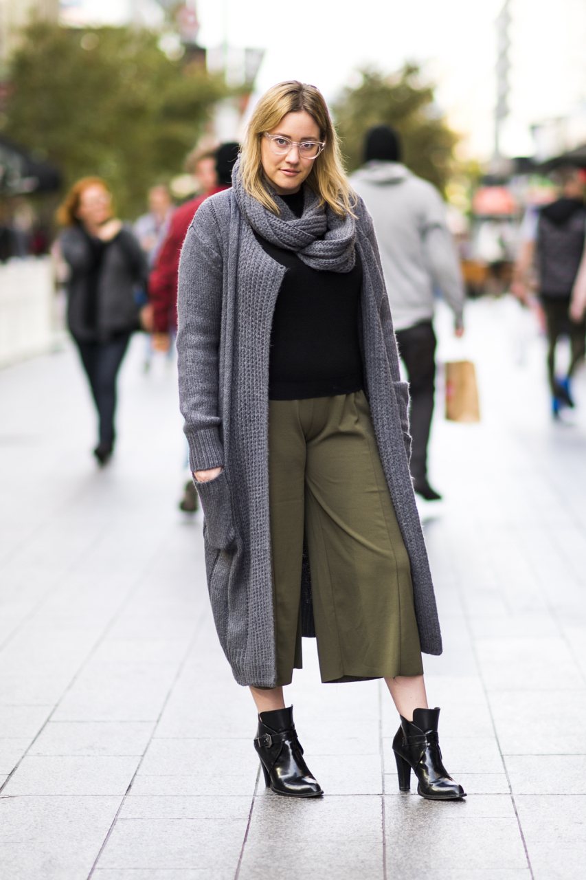 "SA: Jessica Potter, marketing student, Rundle Mall. ""I prefer a relaxed chic look with a touch of something unique."" Photo: Eli Francis"