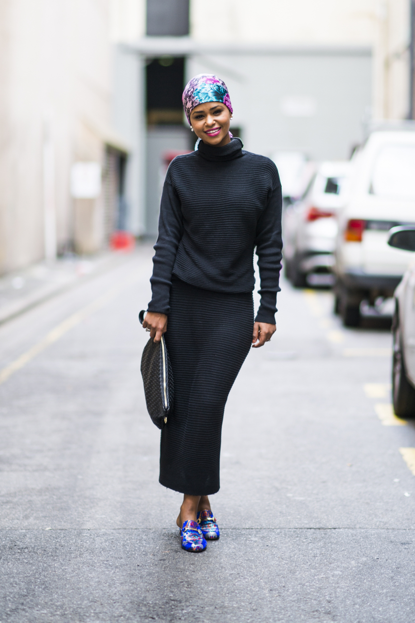 "SA: Somaya Mahmoud, retail assistant, Adelaide. ""I like neutrals with a splash of colour."" Photo: Eli Francis"