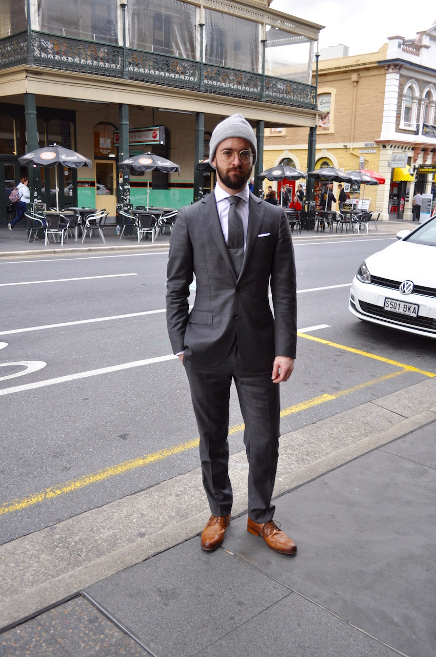 "SA: James Presnell, Sales Rep, <a href=""http://www.rundlestreet.com.au/"" target=""_blank"">Rundle St East</a>, Adelaide. ""My style's minimalist, utilitarian."" Photo: Stacey"