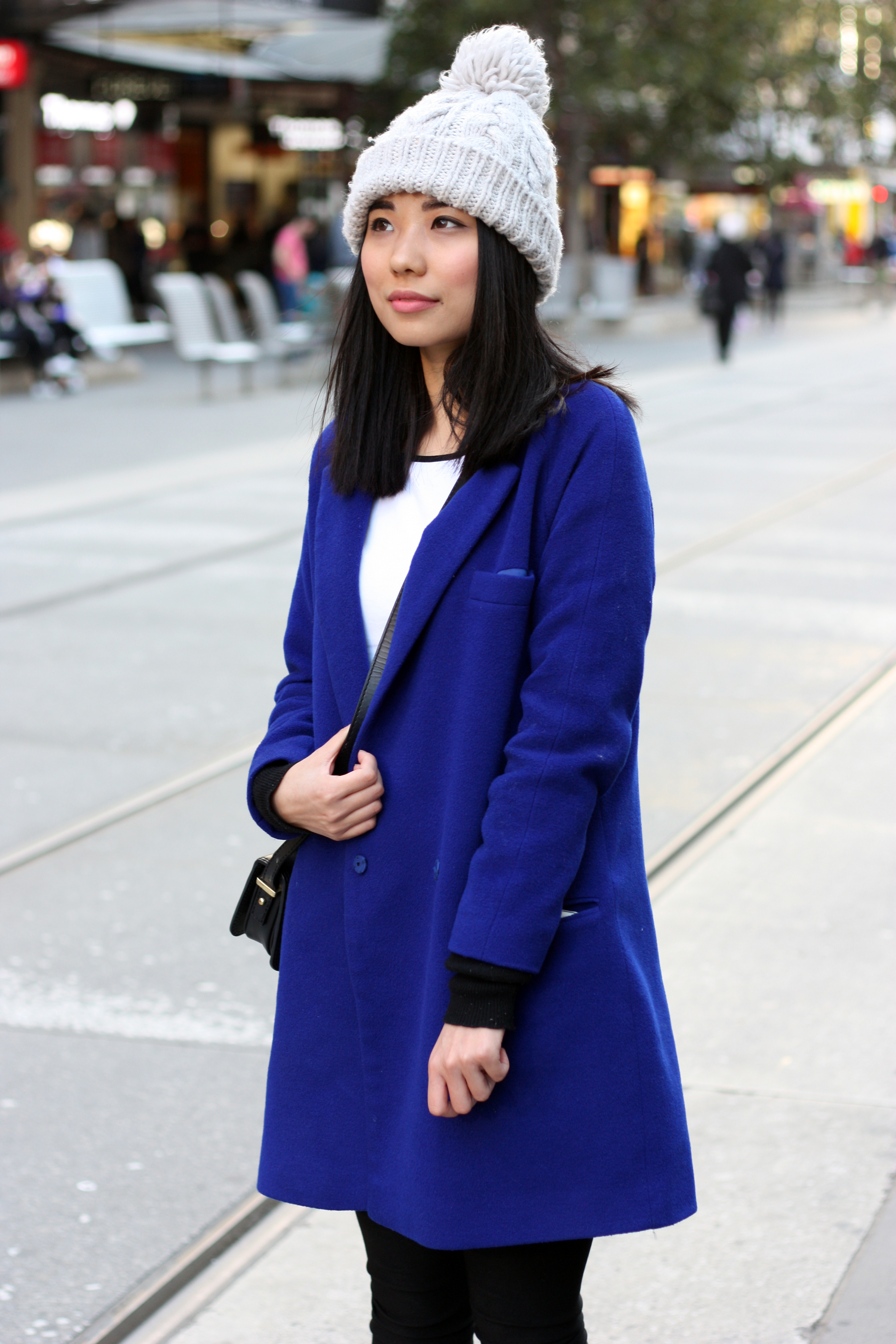 "Vic: Nicole, student, Bourke St Mall, Melbourne. ""My style's casual."""