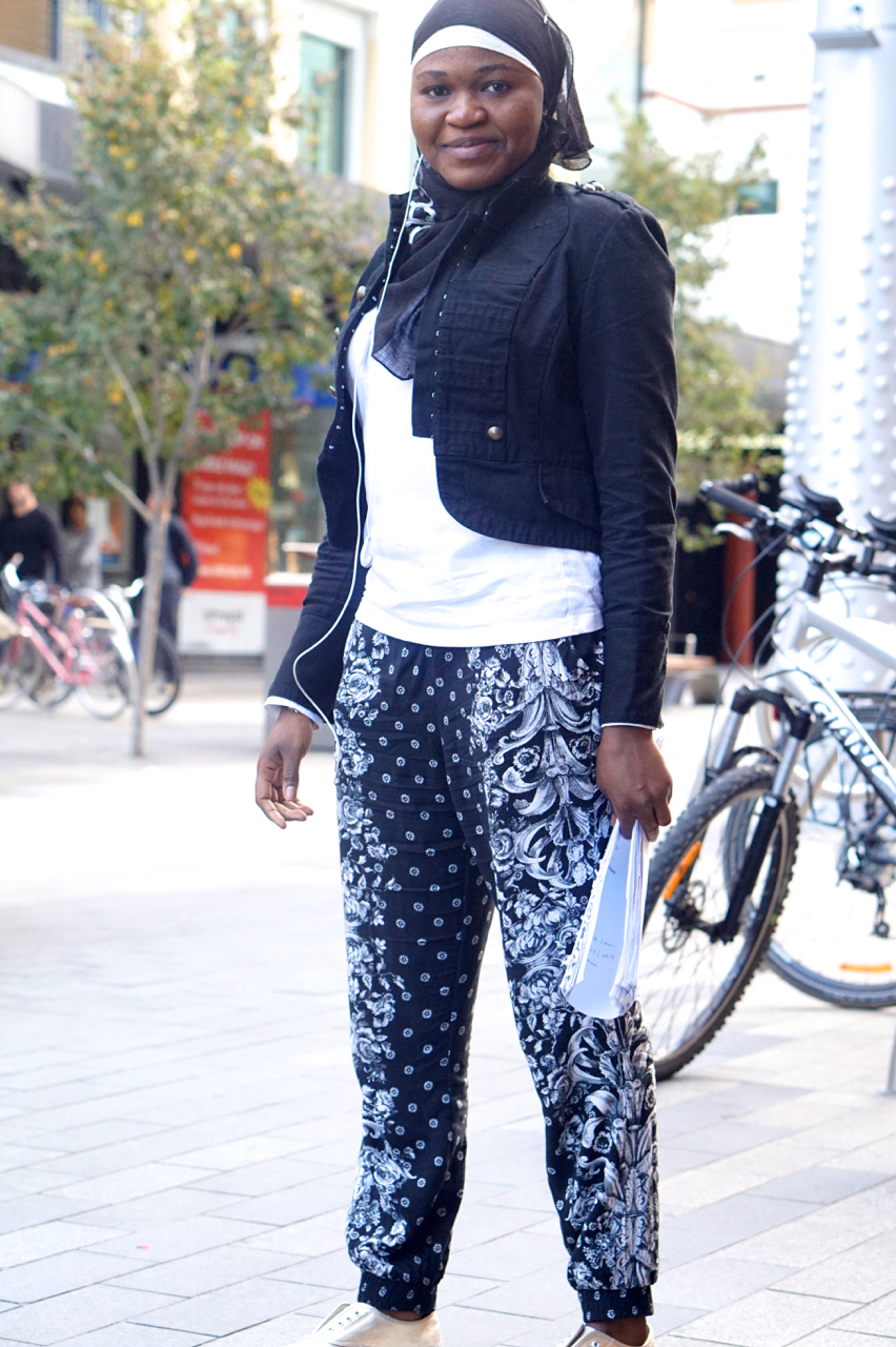 "SA: Amina Lemi, Student Nurse, Rundle Mall, Adelaide. ""I like travelling."""
