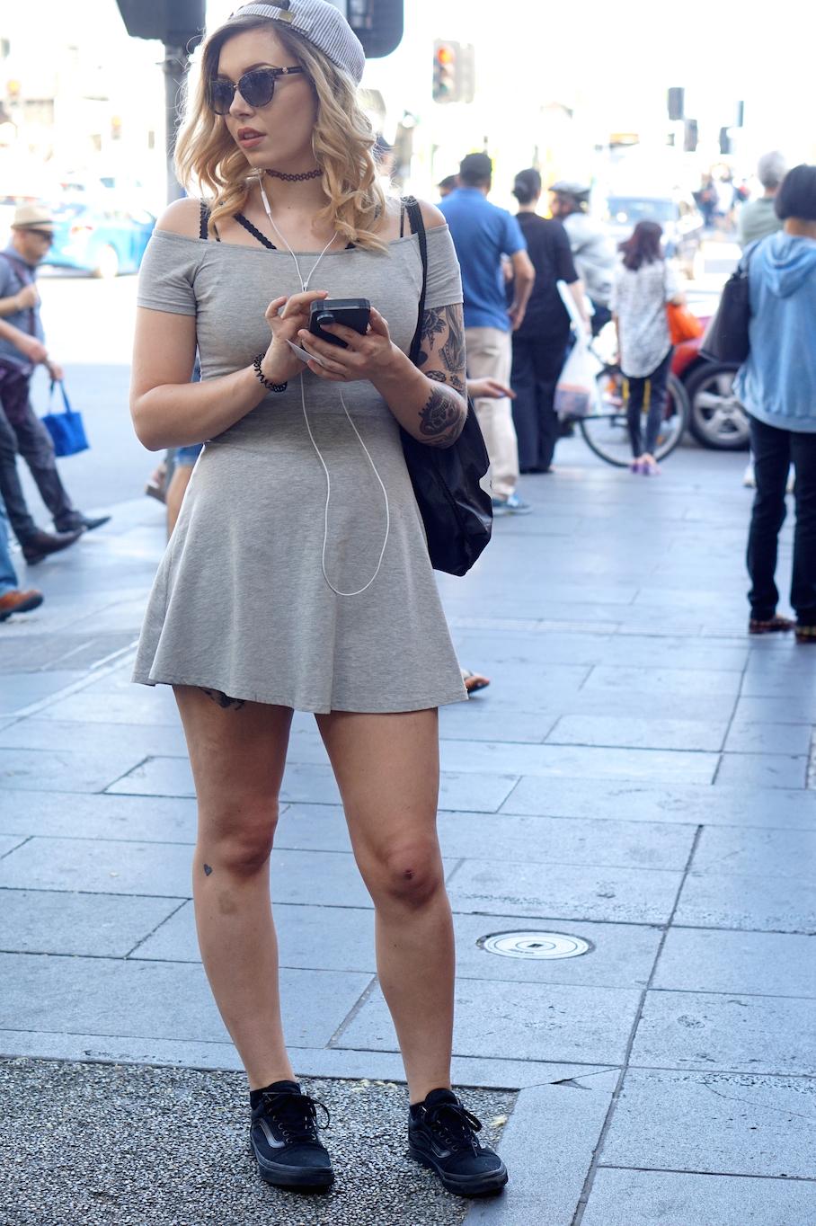 "Vic: Rosy Hoyland, Swantston Street, Melbourne. ""I'm a street-skater travelling Australia."""