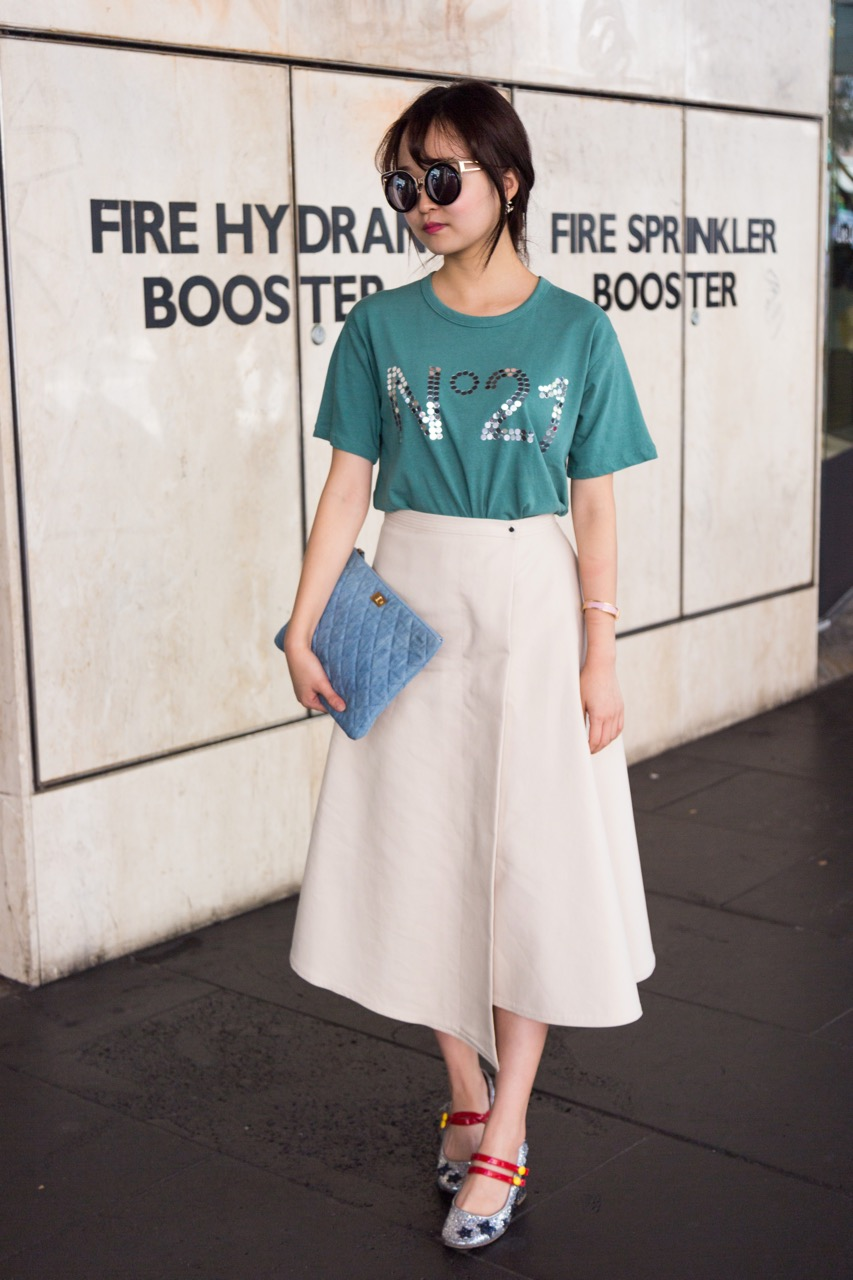 """VIC: Amelia, boutique owner, Bourke St Mall. """"I own a fashion boutique on Collins St, I bring Korean luxury labels to Melbourne."""" Photo: Libby Matson"""