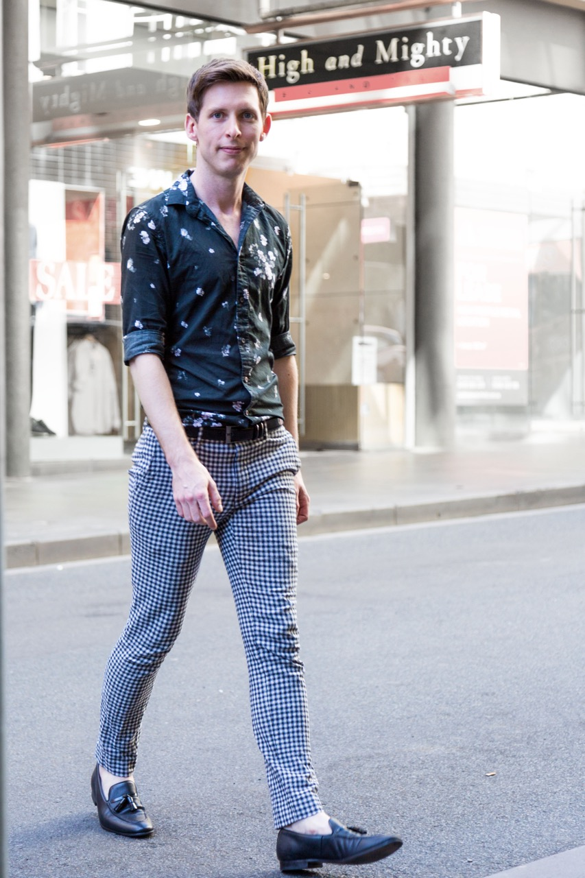 """VIC: Jake Meyer, sales assistant, Little Bourke St. """"I like to look a little left of centre."""" Photo: Libby Matson"""
