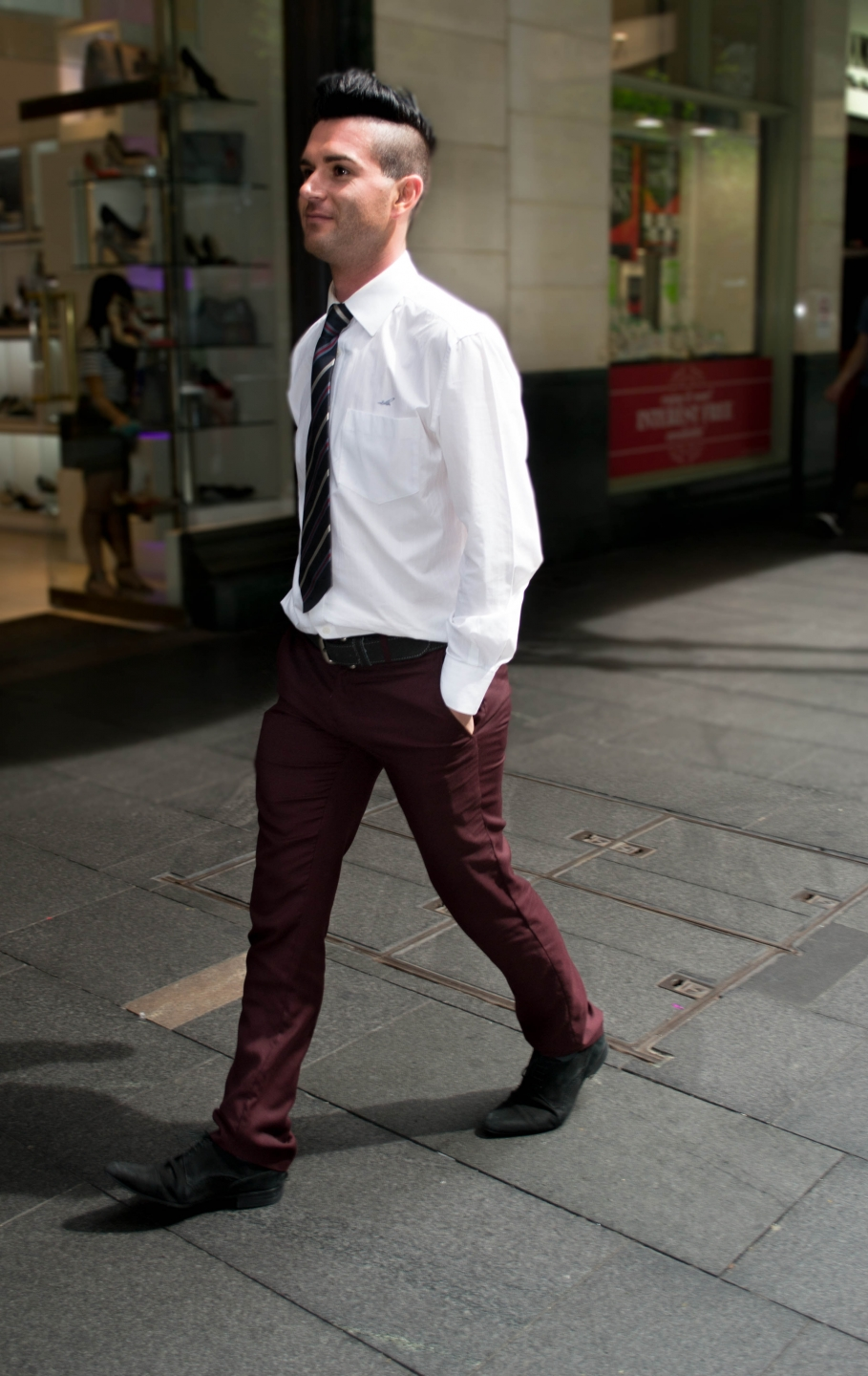 "NSW: Mark Jassalo, travel agent, Pitt St, Sydney.  ""I have a business style."" Photo: Alice Sciberras"