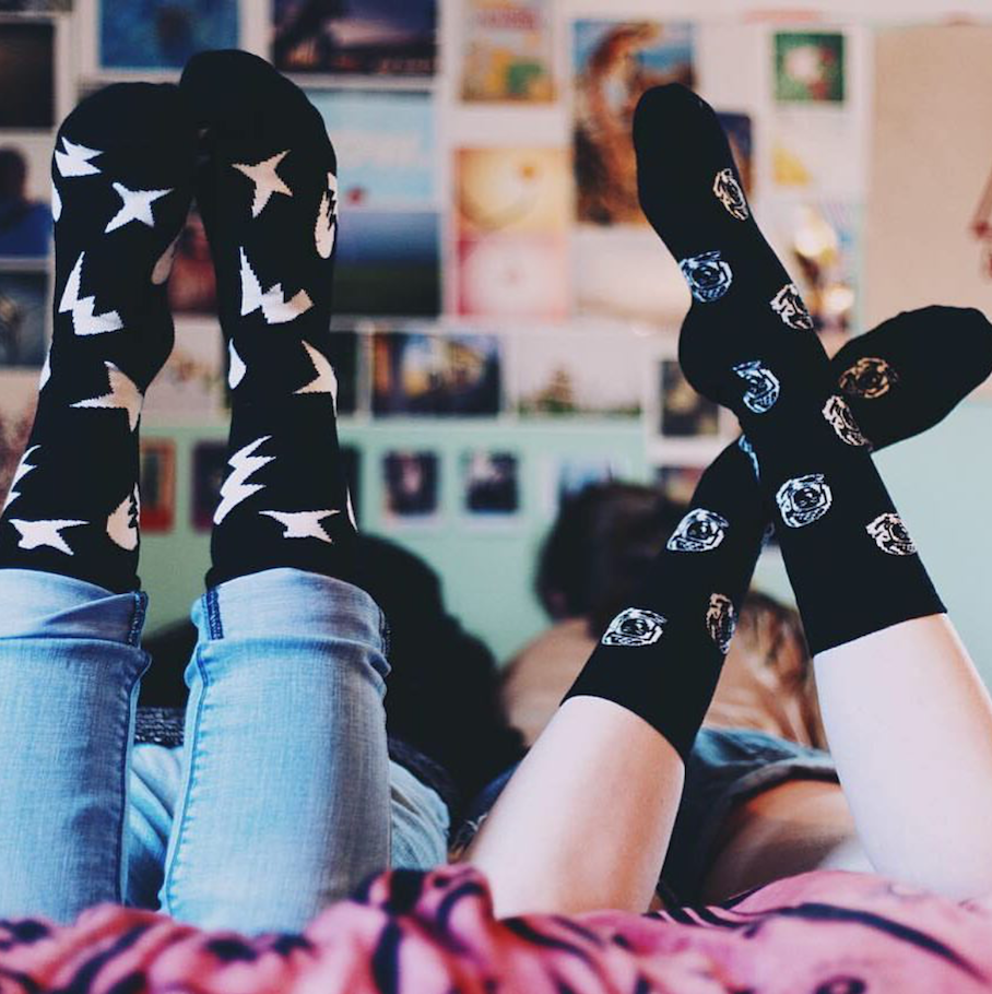 "<a href=""https://www.happysocks.com.au/"" target=""_blank"">Happy Socks</a>  via:  <a href=""https://www.instagram.com/forget_theworld//"" target=""_blank"">@forget_theworld</a>"
