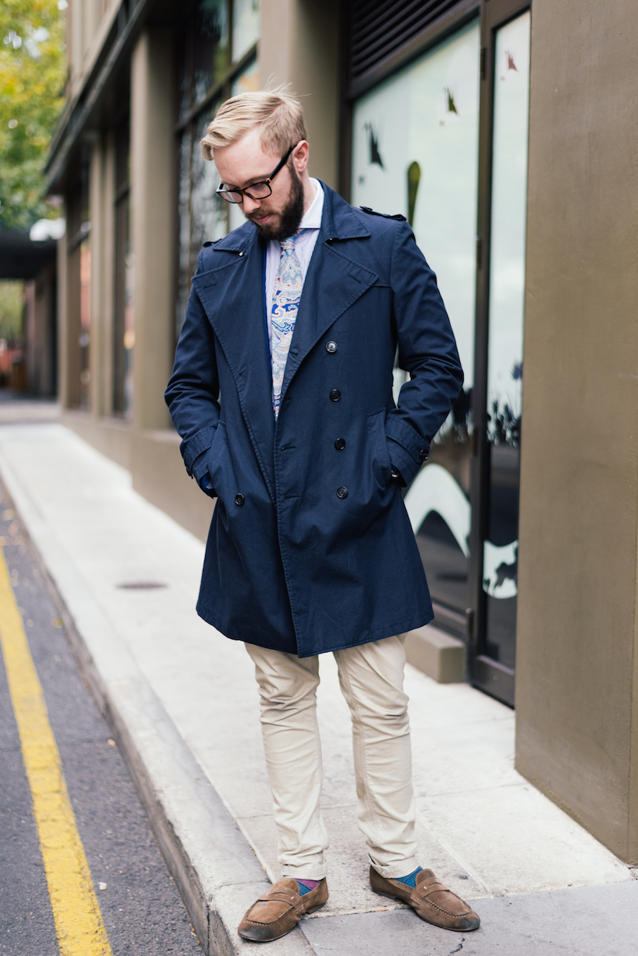 "SA: Julian Tully, Sales, Rundle St, East. ""The appropriate pocket square makes the kit."""