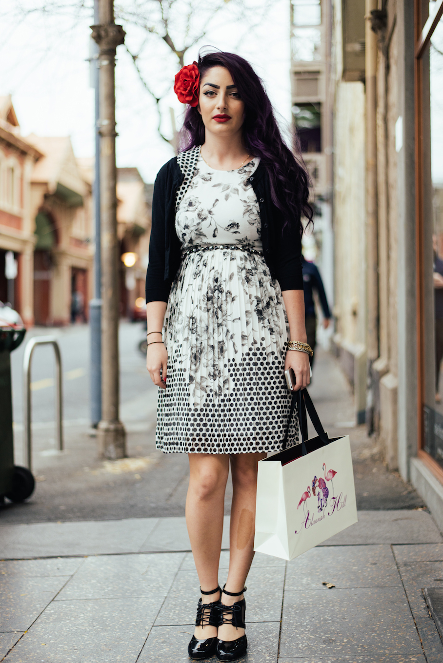 "SA: Sophia Cardone, Ebenezer Place. ""My style is edgy  pin-up."""