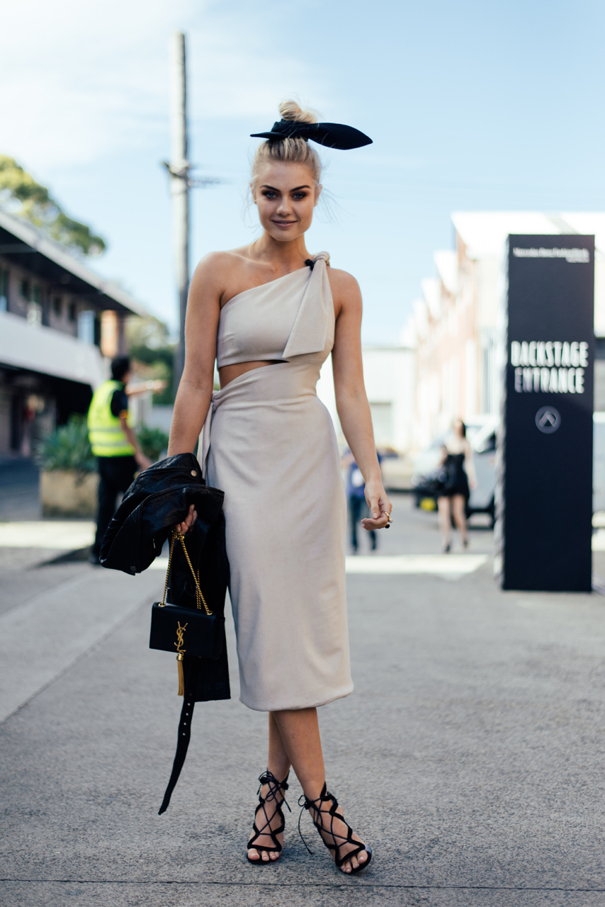 NSW: Elyse Knowles, model, Fashion Week.