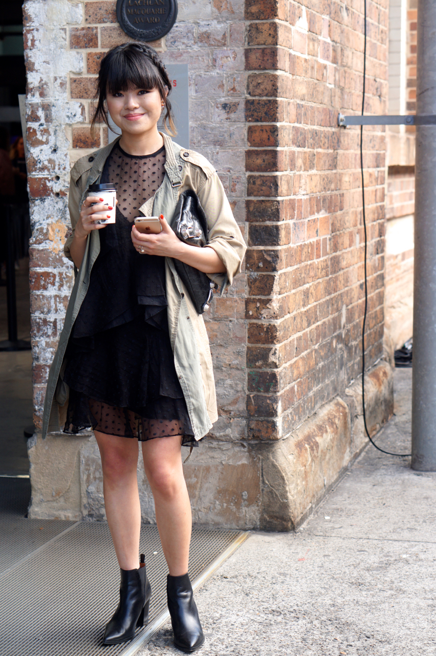 "NSW: Rena Phua, Blogger, Carriageworks. ""My style's a bit laid back, a bit grungy: think of Emanuelle Alt and Melanie Huynh."""