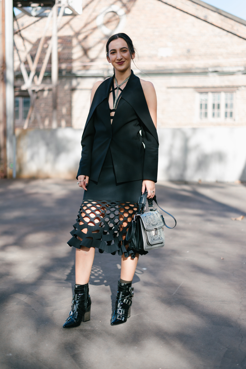 NSW: Jasmine Elkhouri, Fashion Design Student, Carraigeworks, Sydney.