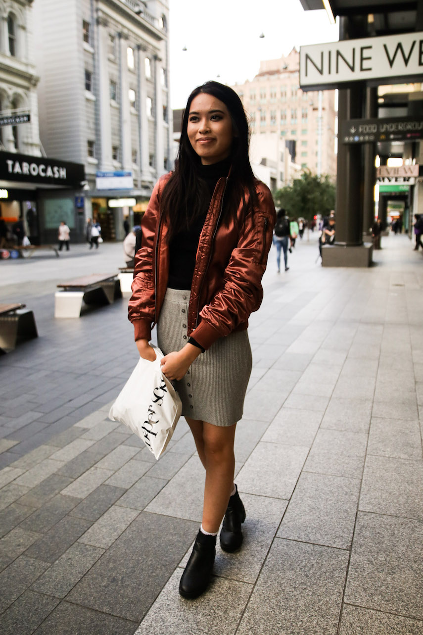 "SA: Aaerina Yun, student. ""My personal style consists of anything and everything."" Photo: Morgan Sette"