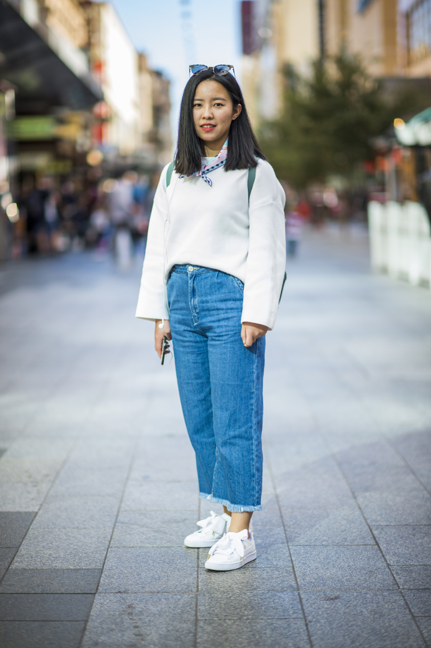 "SA: Ling Li, student, Rundle Mall. ""I'm out meeting friends!"" Photo: Eli Francis"