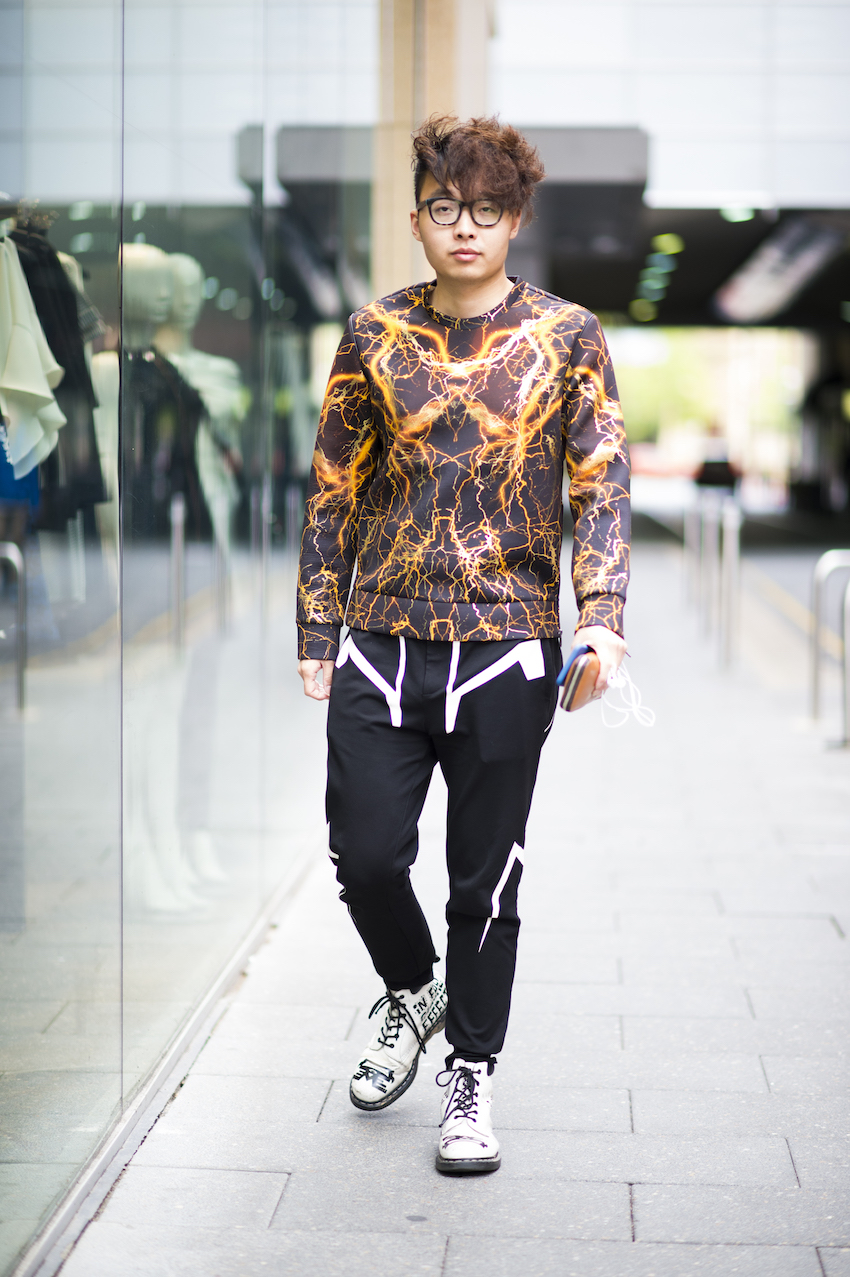 "SA: Richard, Adelaide CBD. ""All my clothes are from Shanghai."" Photo: Eli Francis"