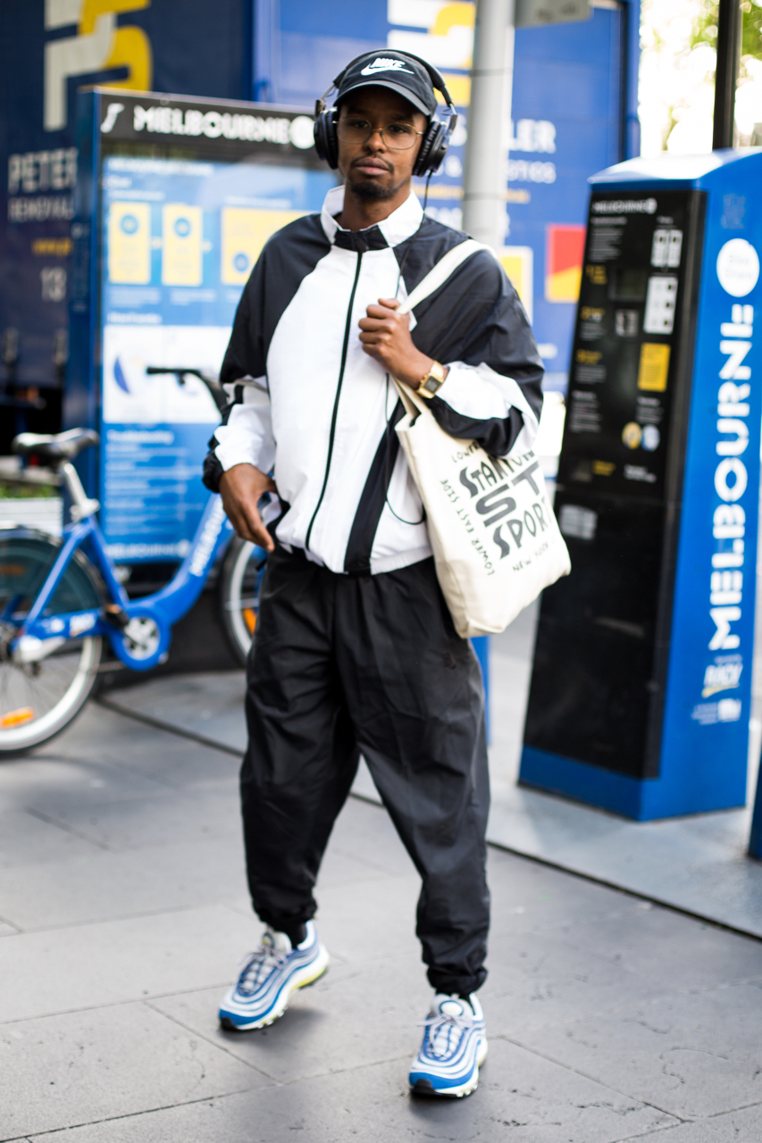 "VIC: Ayub Abdi-Barre, Trainer, QV Melbourne. ""Looking good comes natural."" Photo: Zoe Kostopoulos"