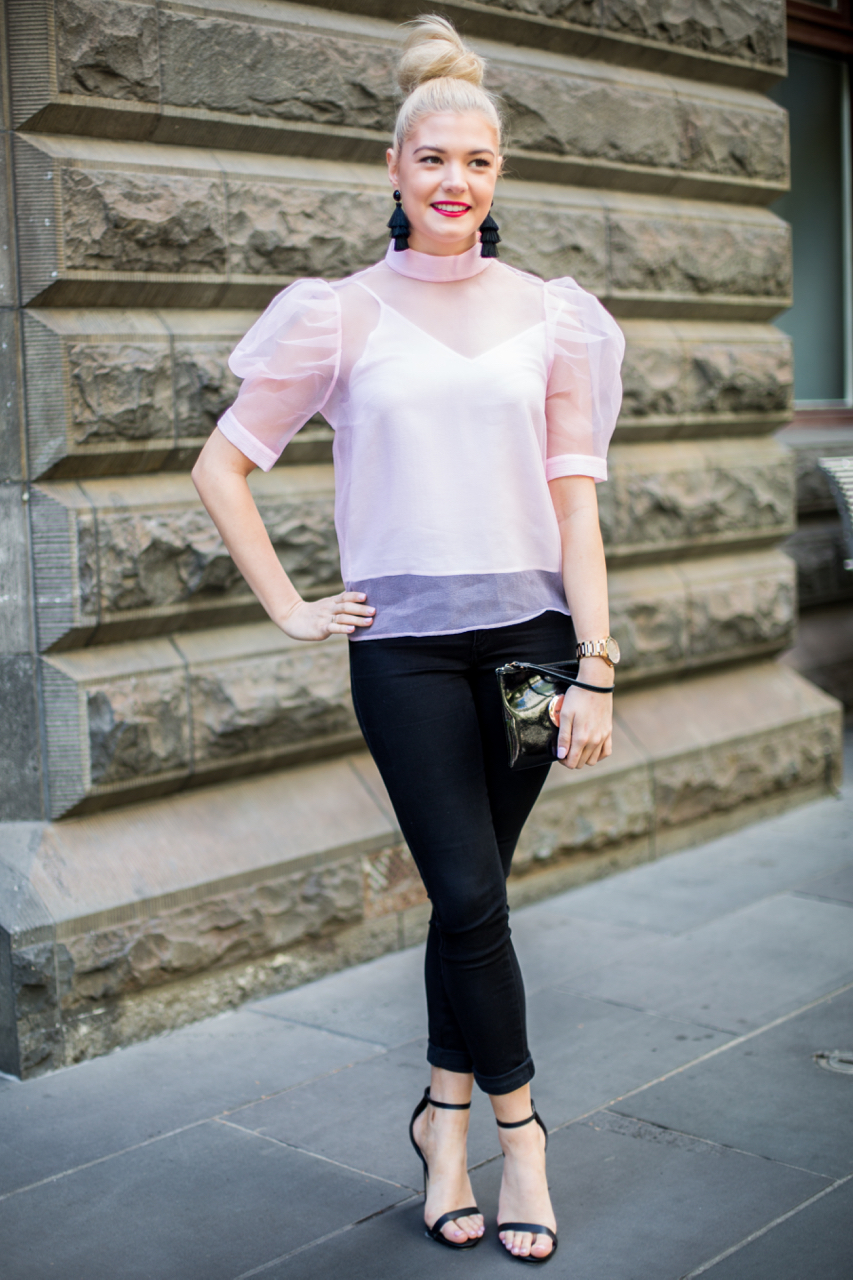 "VIC: Courtney Busby, Public Servant, Little Collins St, Melbourne. ""Elegance."" Photo: Zoe Kostopoulos"