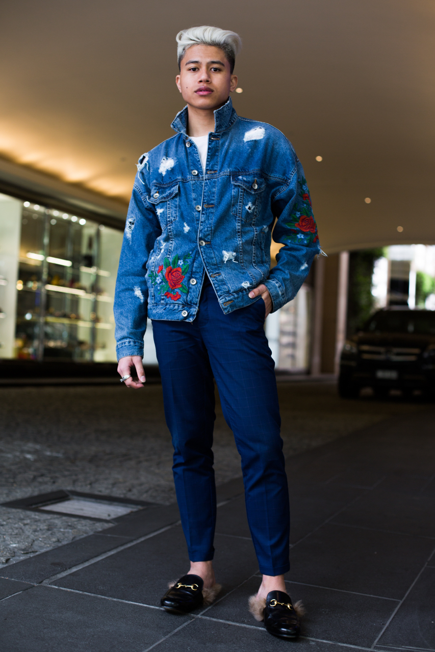 "VIC: Darwin Arendain, Sales Associate, Collins St, Melbourne. ""Smart casual."" Photo: Zoe Kostopoulos"