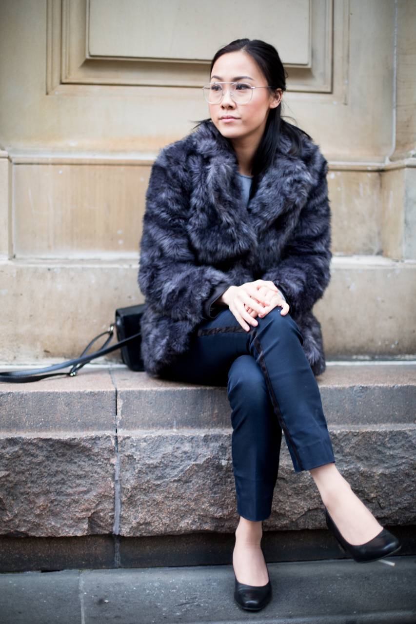 "VIC: Ginny Lee, Makeup Artist, Melbourne CBD. ""Daily uniform."" Photo: Zoe Kostopoulos"