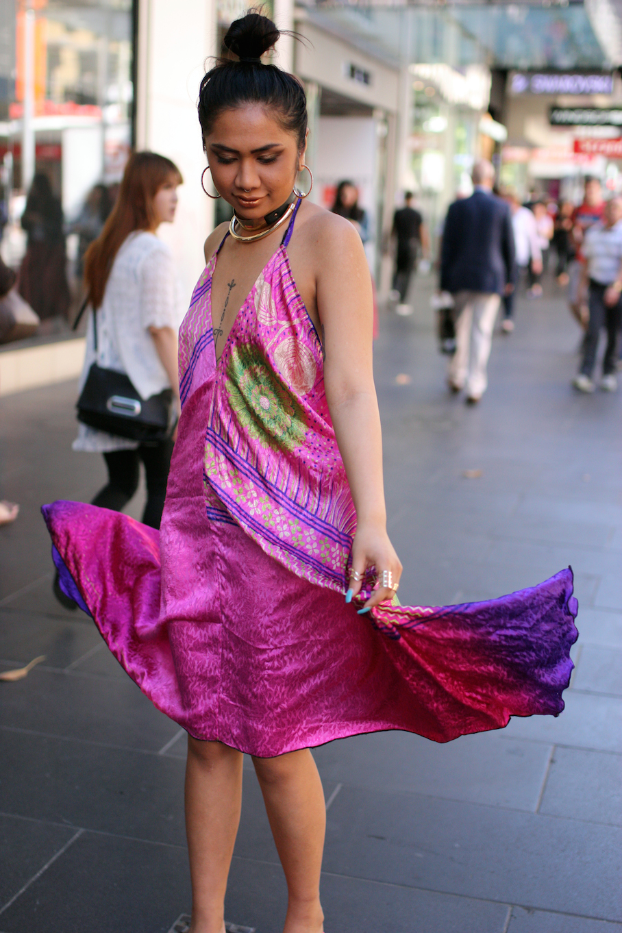 "Vic: Florence Kumar (Student/Retail Assistant), Bourke Street. ""I always dress how I fell, without the need for approval by others."" Photo: <a href=""http://www.marythamphotography.weebly.com/"" target=""_blank"">Mary Tham </a>"