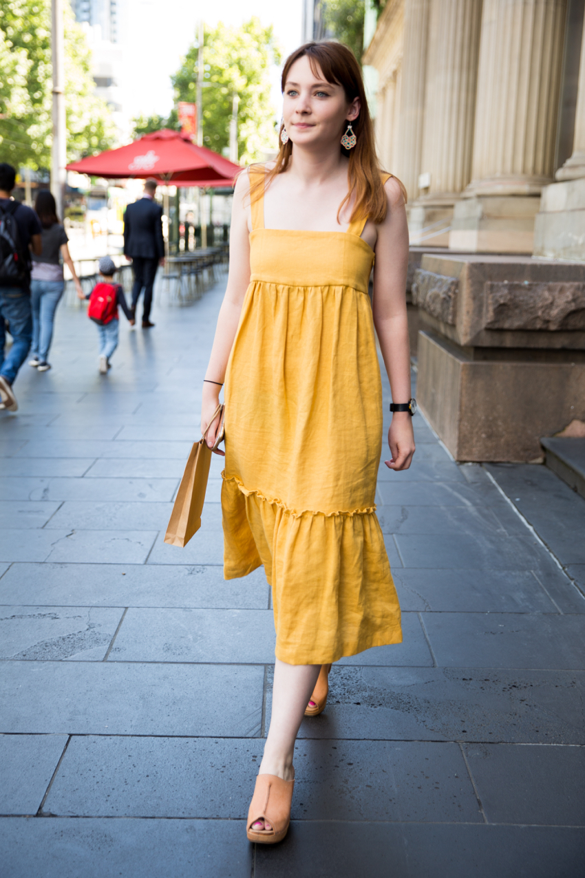 VIC: Harriet Cherry, Sales Assistant, Elizabeth St, Melbourne. Photo: Zoe Kostopoulos