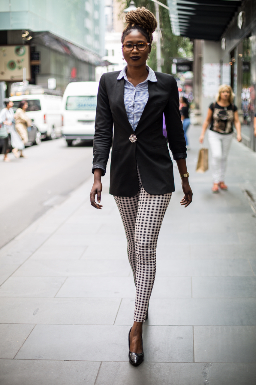 "VIC: Teresa Garang, Senior Analyst, Melbourne. ""A mix of everything."" Photo: Zoe Kostopoulos"