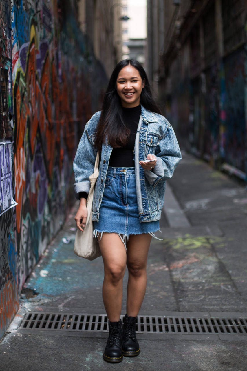 "VIC: Muse Sowatee, Receptionist, Bourke St, Melbourne. ""Mismatched, but today I'm matching."""