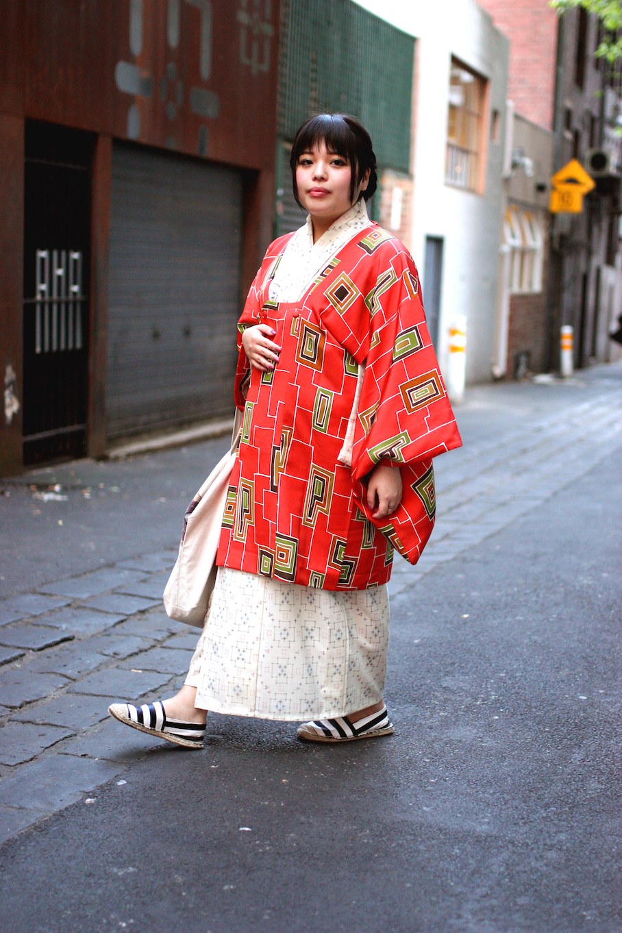 """Vic: Shoko Kikuchi, Event Promoter, Melbourne. """"I have a casual kimono style."""" Photo: <a href=""""http://www.marythamphotography.weebly.com/"""" target=""""_blank"""">Mary Tham </a>"""