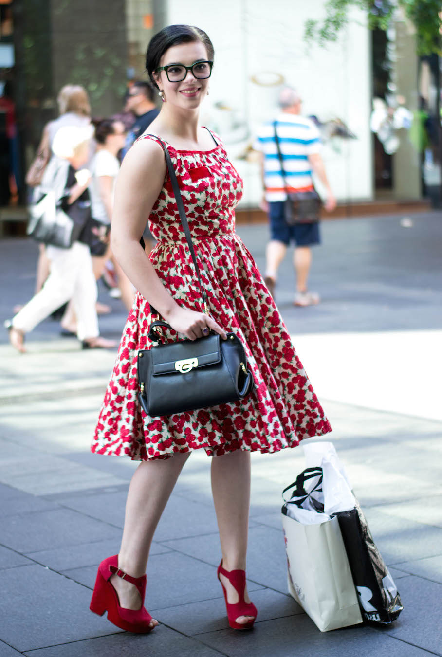 "NSW: Casey Simms, stylist, Pitt St, Sydney. ""I am eclectic, classic and quirky."""