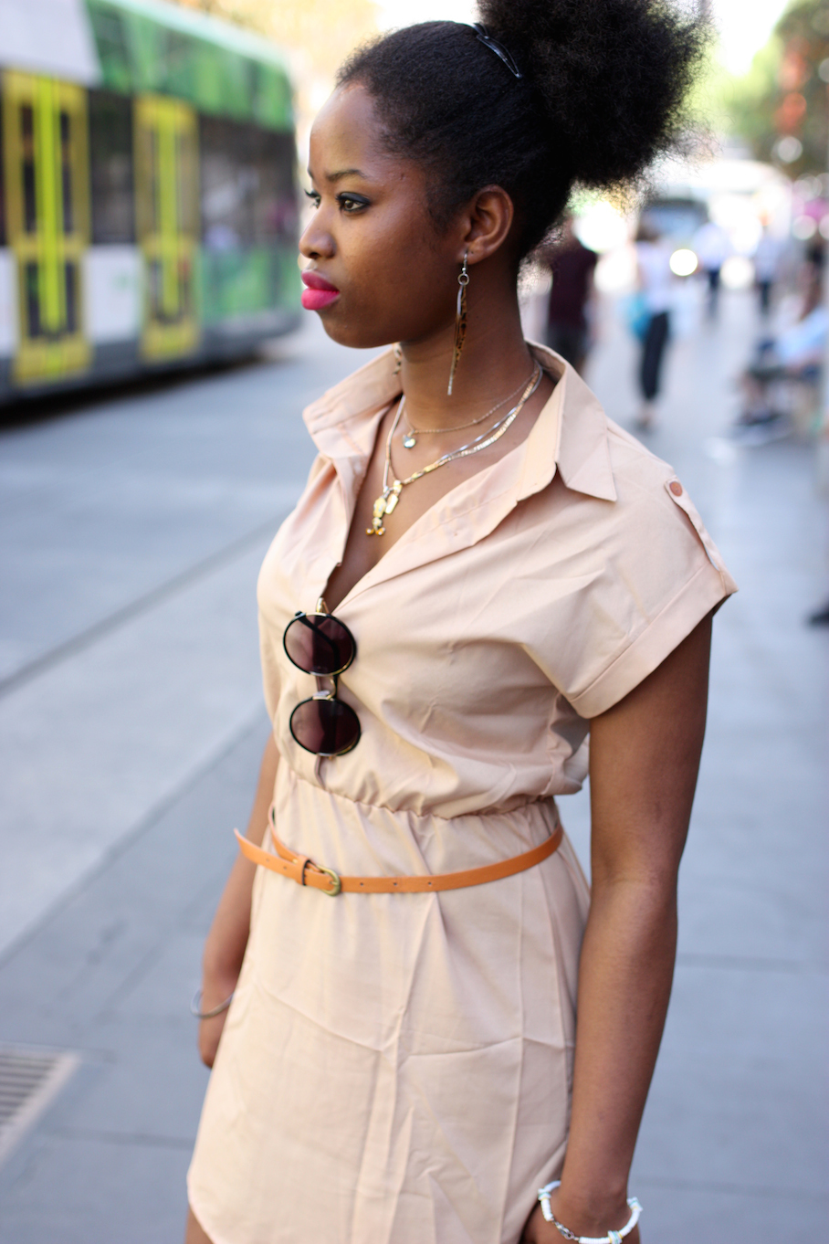 "Vic: Mariama Diollo, Bourke St. ""My style is a bit of everything. I mix my Senegalese style to Australian fashion"" Photo: <a href=""http://www.marythamphotography.weebly.com/"" target=""_blank"">Mary Tham </a>"