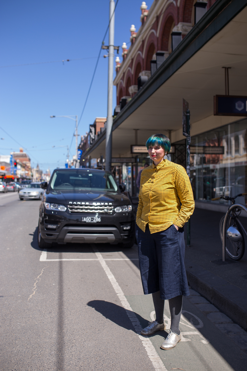 "Vic: Jamie Mumford, Store Manager, Sydney Road Brunswick. ""I love colour!"" Photo: Ryan Murch"