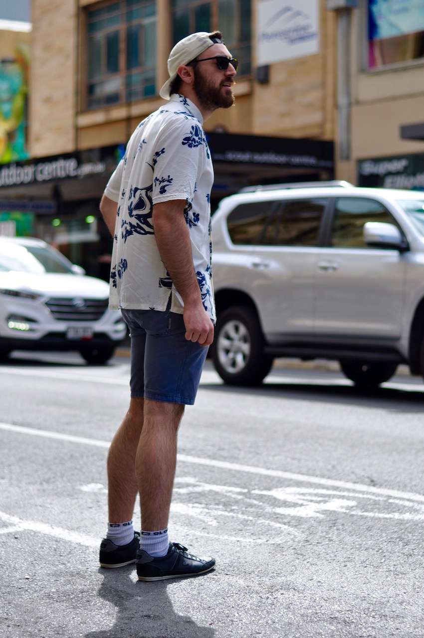 "SA: Chris Iommazzo, venue manager, Rundle St. ""I've a very preppy fashion style."" Photo: Stacey Pallaras"