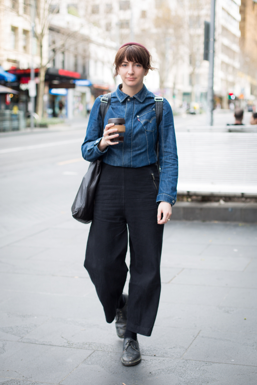 VIC: Bronte Webster, student/artist, Swanston St, Melbourne. Photo: Zoe Kostopoulos