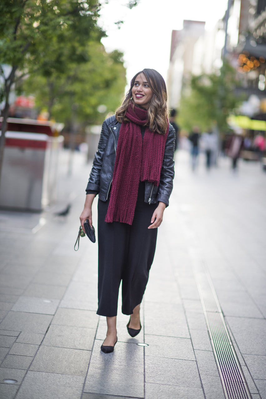 "SA: Fadwa, Interior Designer, Rundle Mall, Adelaide. ""I'm in an easy style for work."" Photo: Eli Francis"