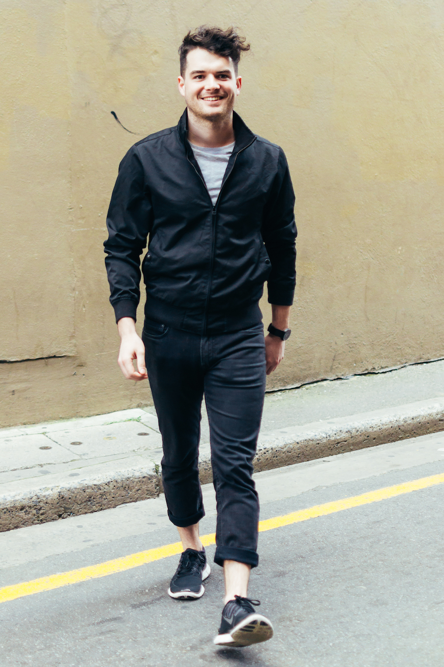 """SA: Patrick Scott, student, Adelaide. """"I wear simple comfortable clothes and block colours."""""""