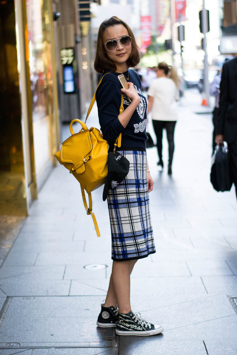 "NSW: Melody, Castlereagh St, Sydney. ""I have a casual style"". Photo: Alice Scriberras."