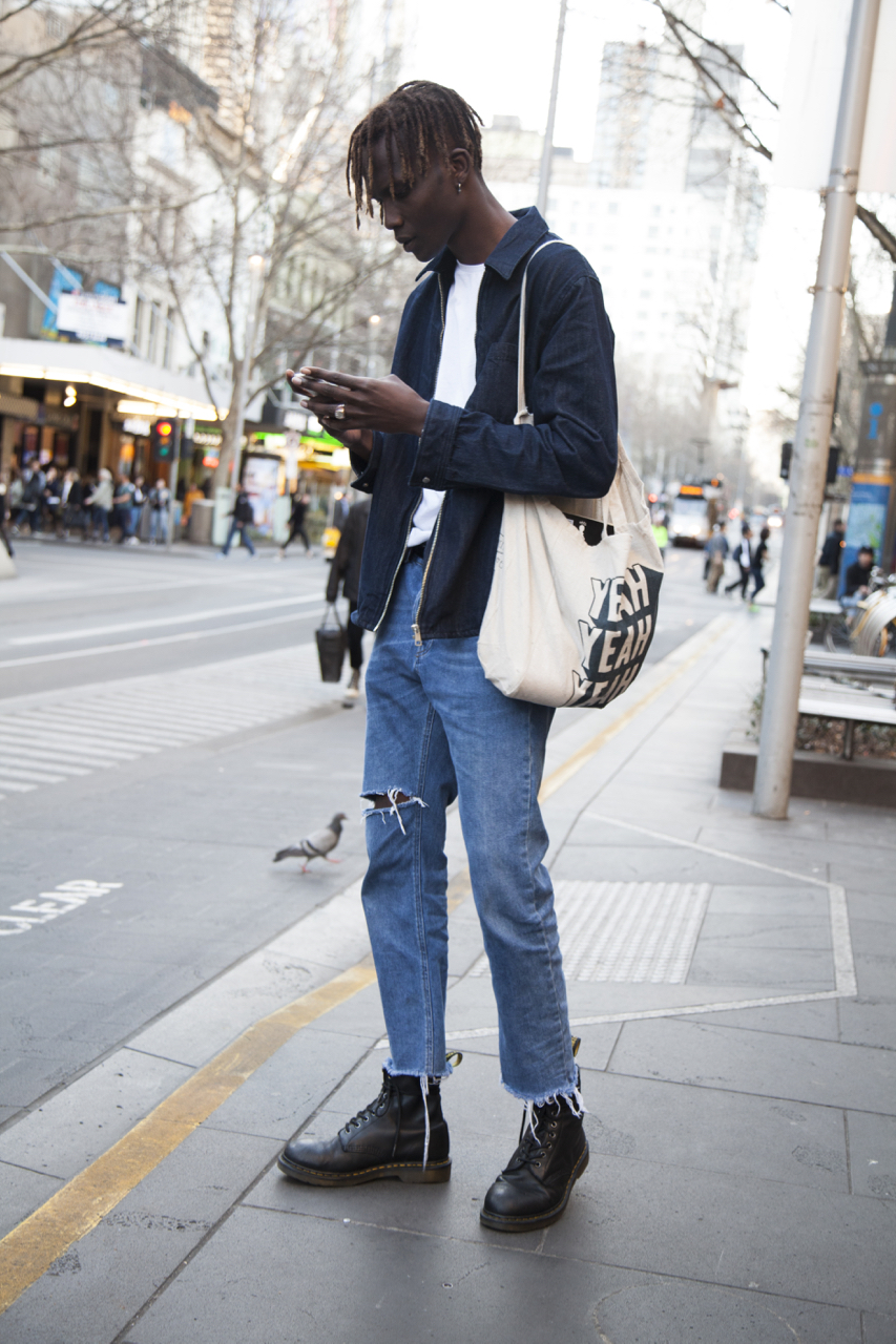 VIC: Konker, model, Bourke St. Photo: Ruth Dradi