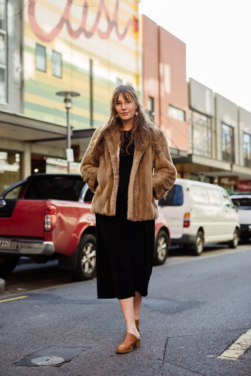 "SA: Chloe Jade Miller, Graphic Designer, <a href=""http://www.rundlestreet.com.au/"" target=""_blank"">Rundle Street East</a>, Adelaide.  ""I like to mix new & vintage and throw on whatever is comfortable for work."""