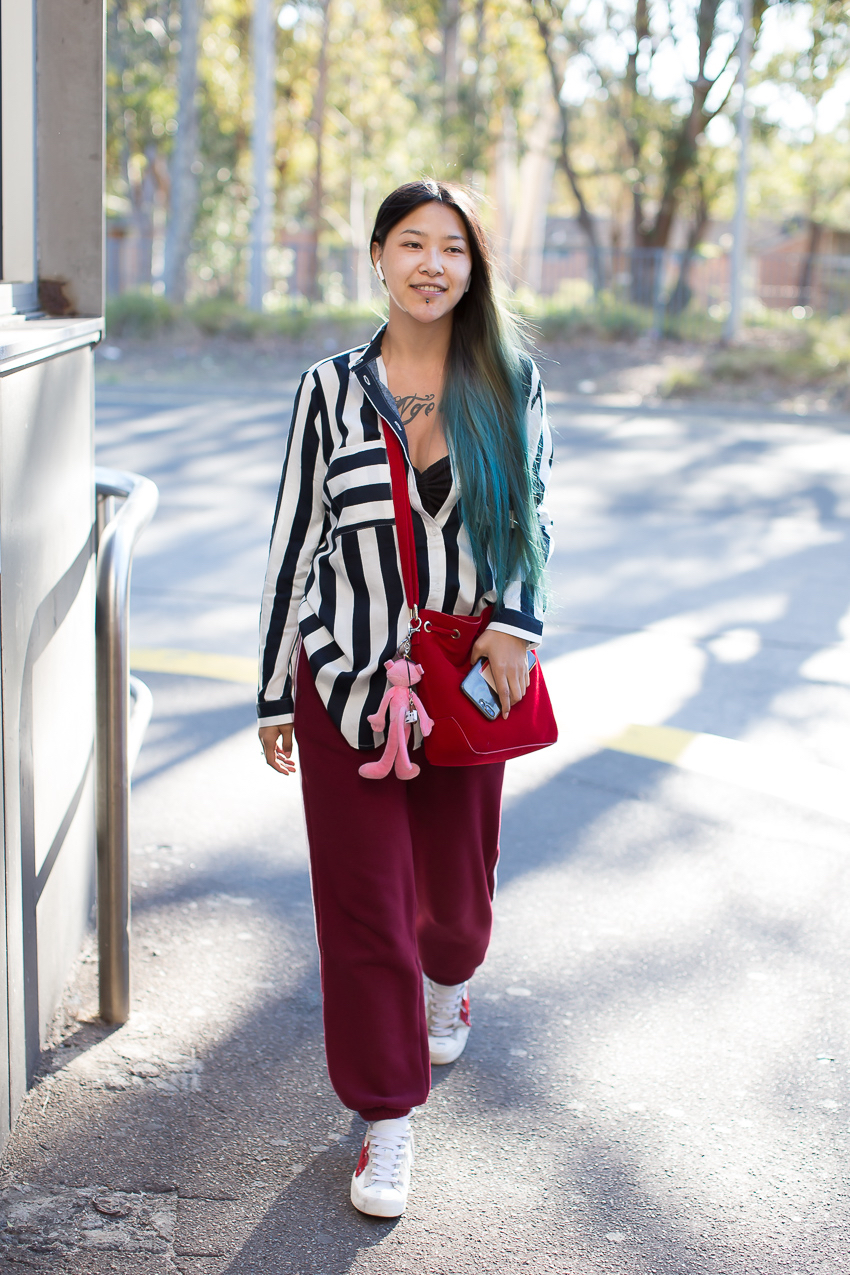"NSW: Kris Lee, Student, North Ryde. ""I've lived in Sydney for one year now, I'm studying English!"" Photo: Maree Turk"