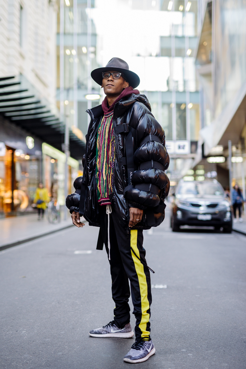 "VIC: Davon, Photographer, Driver Lane, Melbourne. ""Dress how you feel."""