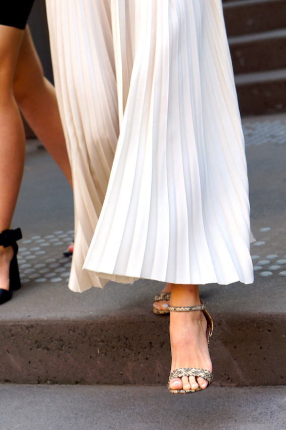 Latest Australia style fashion - Pleats, photographed at Fashion Week Sydney