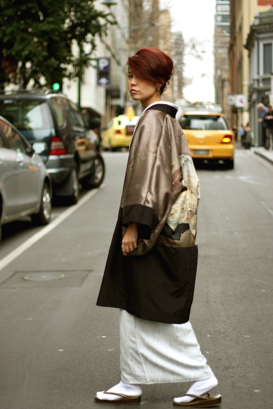 "Vic: Tamayo King, Beauty & Massage Therapist, Little Bourke St, Melbourne. ""I love kimono with samurai style.""   <a href=""http://www.marythamphotography.weebly.com/"" target=""_blank""> Photo: Mary Tham </a>"