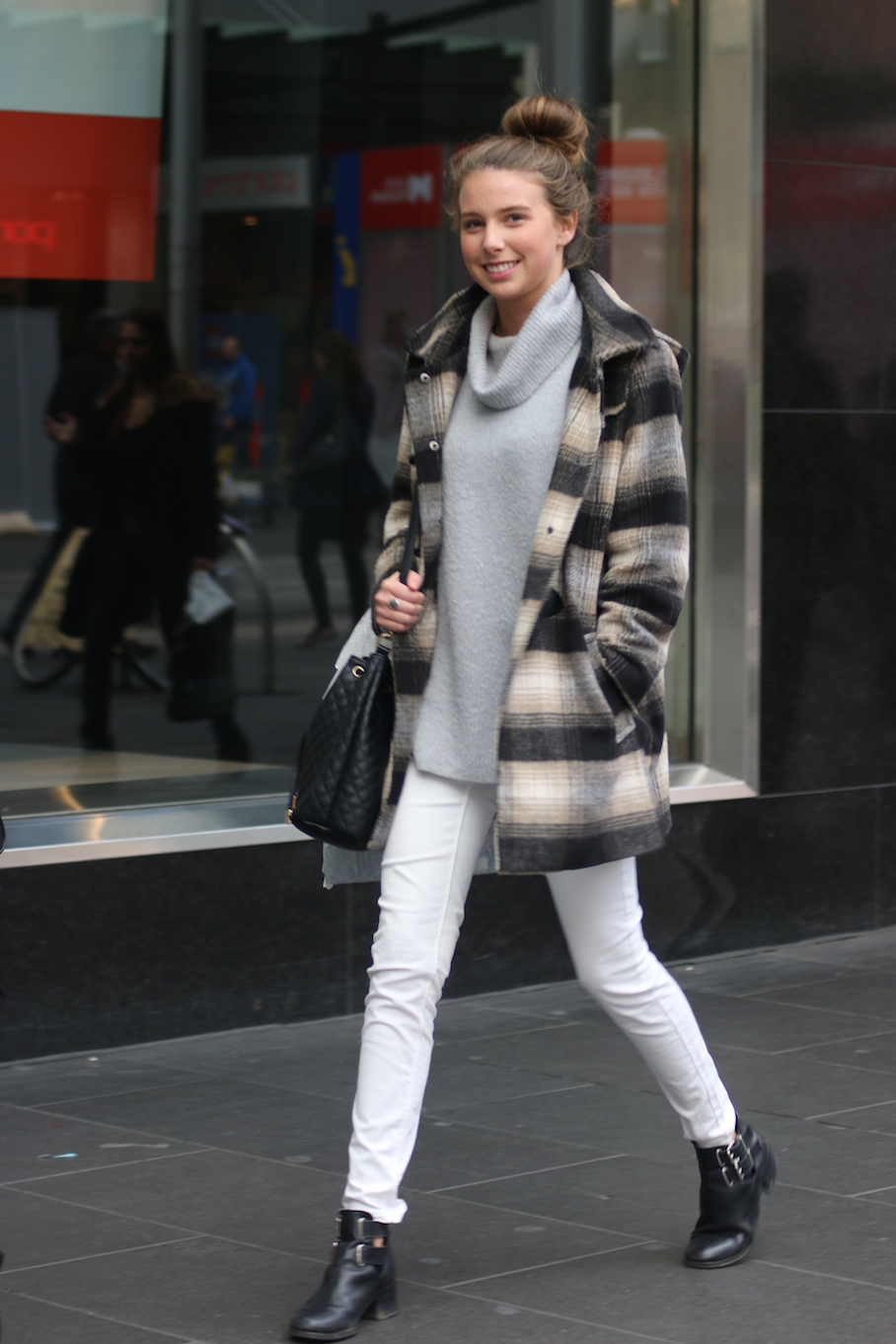 Vic: Sara Venter, Business/Arts student, Bourke St Melbourne. Photo: Tracie Sullivan.